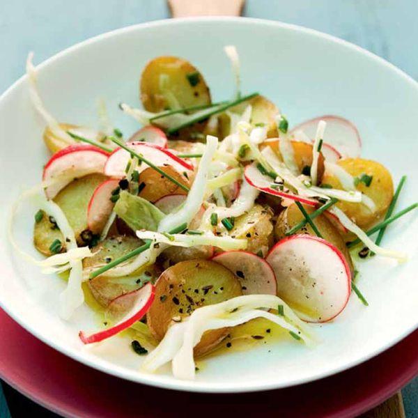 بطاطس بالخضروات المقرمشة