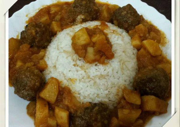 كفتة الأرز بالبطاطس