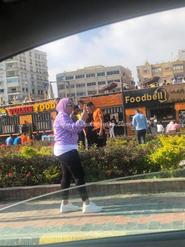 تزاحم كبير فى منطقة الجراج ببورسعيد