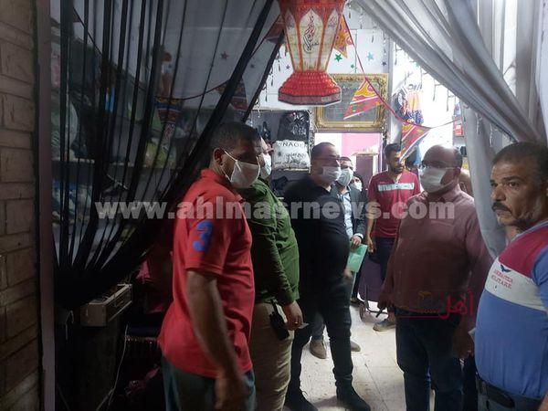حملات على المحلات للحظر باسيوط