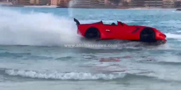 لاول مرة في مطروح سيارة مائية