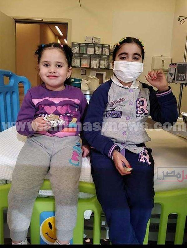 وعد و رغد شقيقتان احدهما توفيت و الاخرى تعانى من نفس المرض