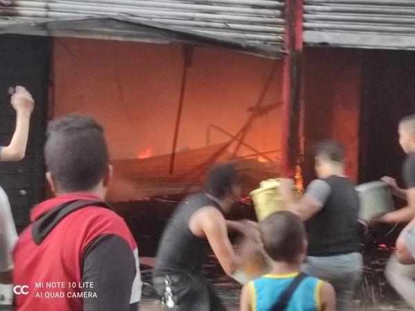 حريق في طهطا بسوهاج
