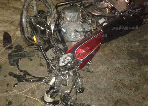 مصرع شاب في حادث تصادم دراجة نارية بسيارة ربع نقل بالفيوم