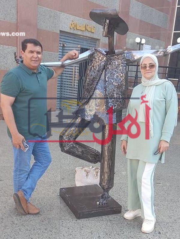 تمثال ابو العربى  مصنوع من