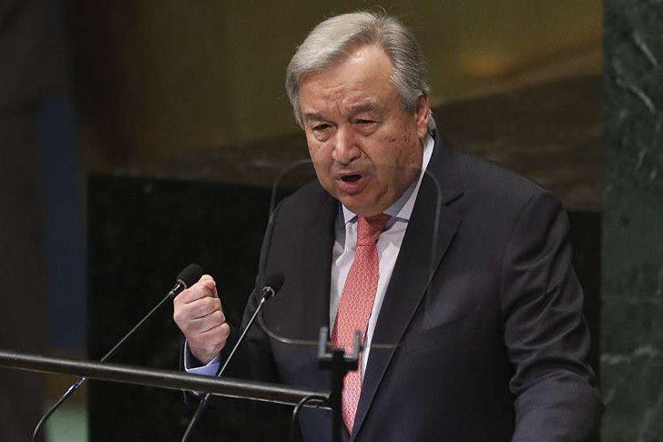 الأمين العام للأمم المتحدة، أنطونيو جوتيريش، نيويورك، 25 سبتمبر 2018 (AP )