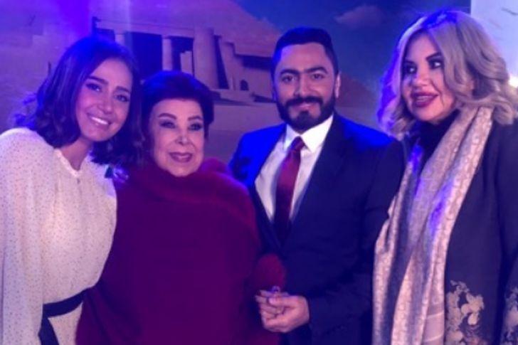 حلا شيحة وتامر حسني وبوسي شلبي ورجاء الجداوي