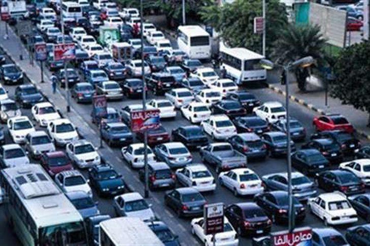 زحام مروري بشوارع القاهرة_ أرشيفية