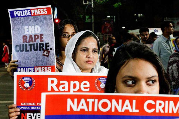 مظاهرة ضد العنف تجاه النساء في الهند