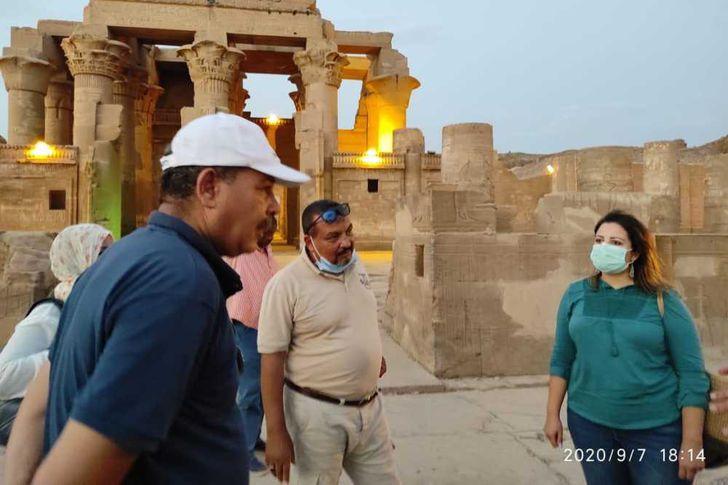 مساعد وزير السياحة تتفقد المواقع الأثرية والمتاحف بأسوان