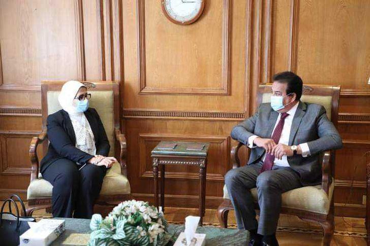 وزيرة الصحة مع وزير التعليم العالي