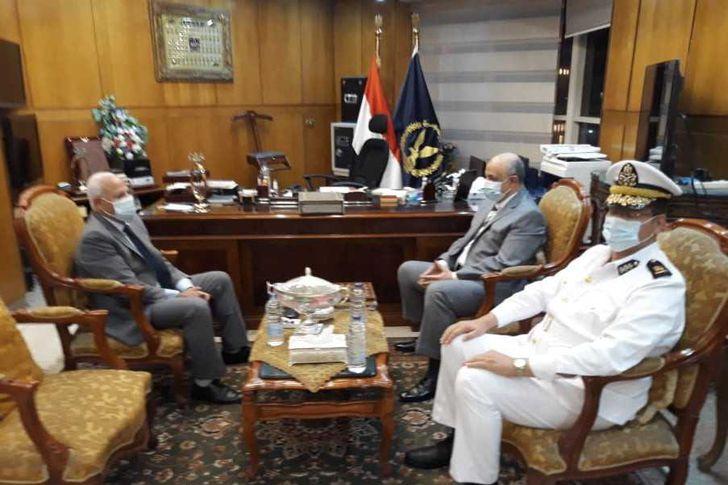 اجتماع محافظ بورسعيد ومدير الأمن