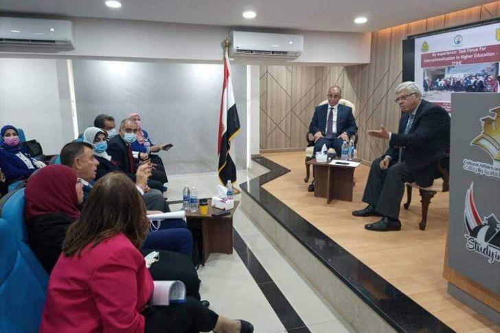 تعليم العالي تنظم الحفل الختامي لخريجي مسئولي التدويل بالجامعات المصرية