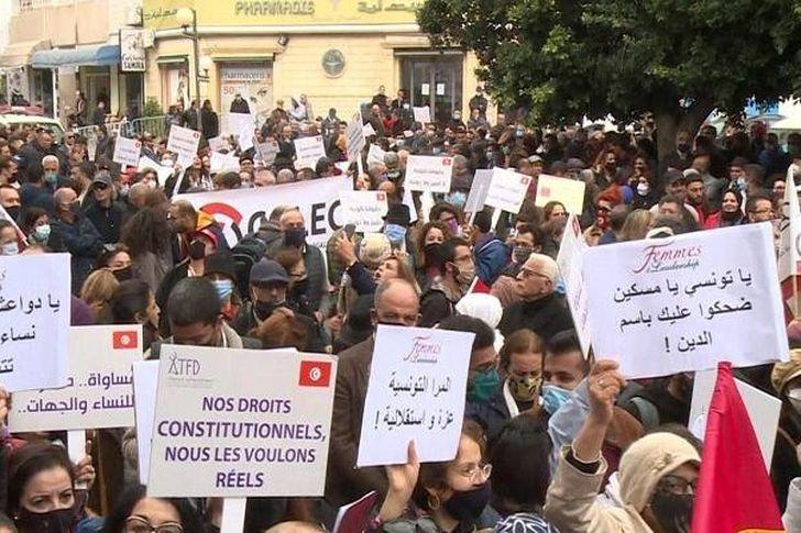 مظاهرات البرلمان التونسي
