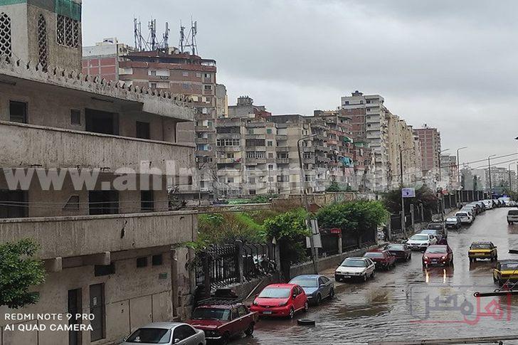 الطقس السئ يضرب الإسكندرية