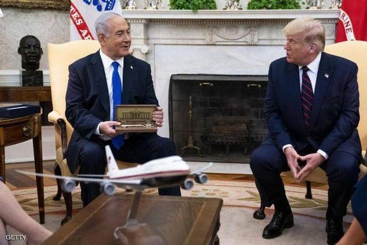 صورة نتنياهو و ترامب