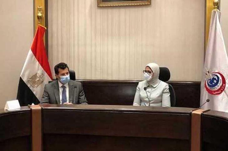 وزيرة الصحة ووزير الشباب والرياضة