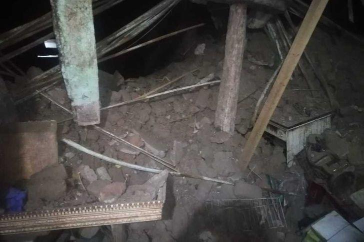 تشرد أسرتين انهار منزلهما بفرشوط في قنا
