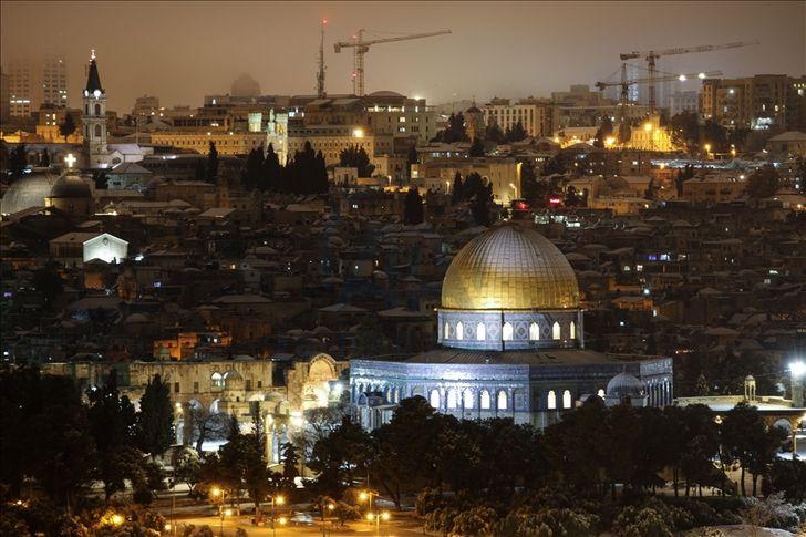 تساقط الثلوج في القدس