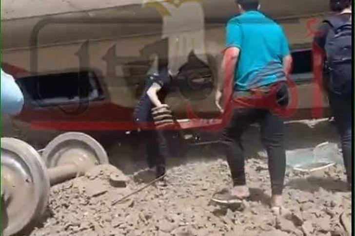 حادث قطار طوخ اليوم
