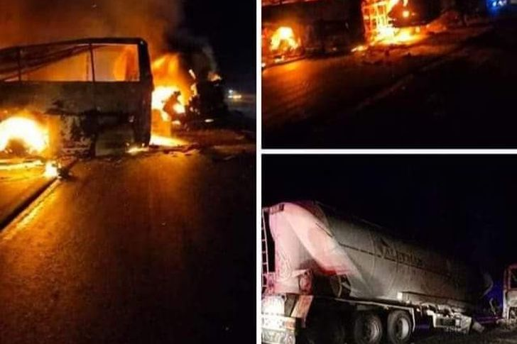 صورة من حادث أتوبيس أسيوط