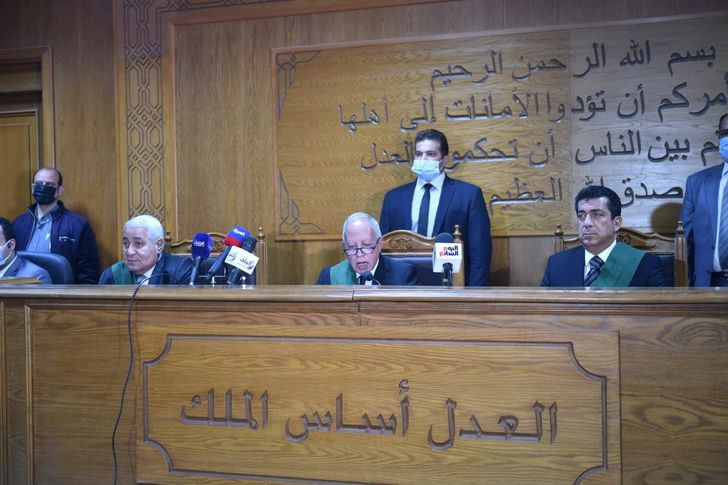 هيئة المحكمة خلال النطق بالحكم