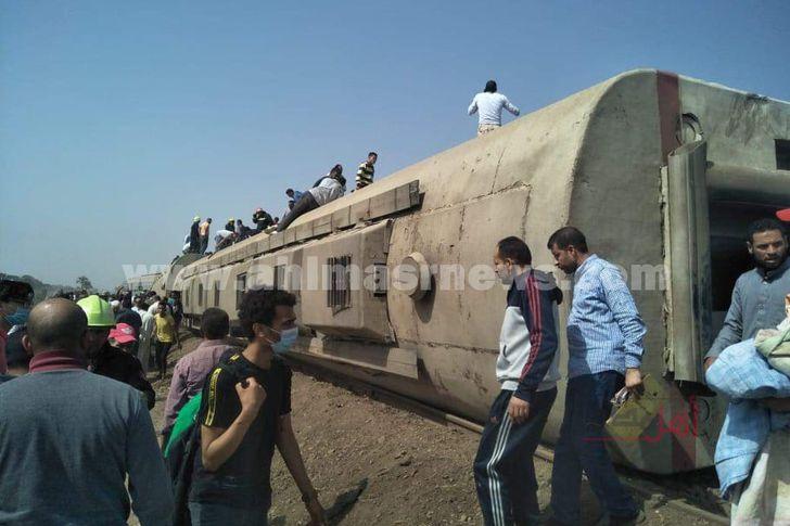 """حادث قطار """"القاهرة - المنصورة"""""""