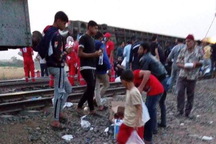 حادث قطار بنها اليوم