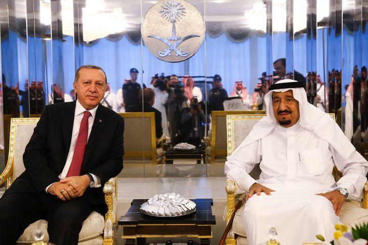 أردوغان والعاهل السعودي