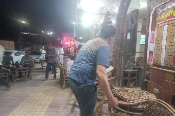 حملات علي المقاهي والكافيهات بمطروح