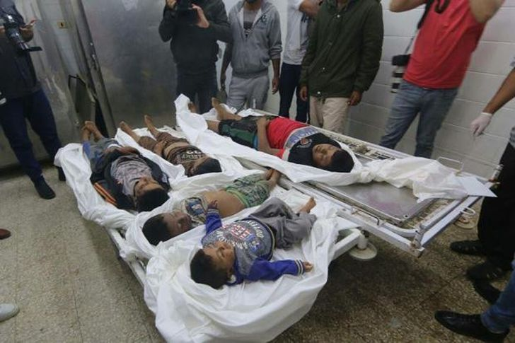 ضحايا القصف الإسرائيلي بغزة
