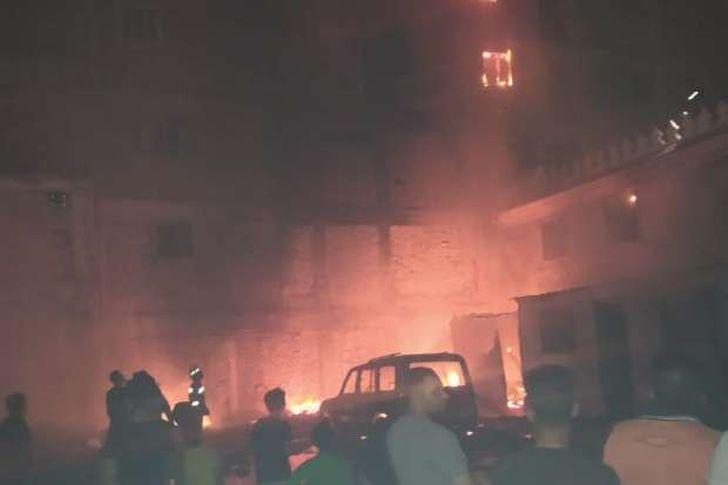 لقطات من الحريق