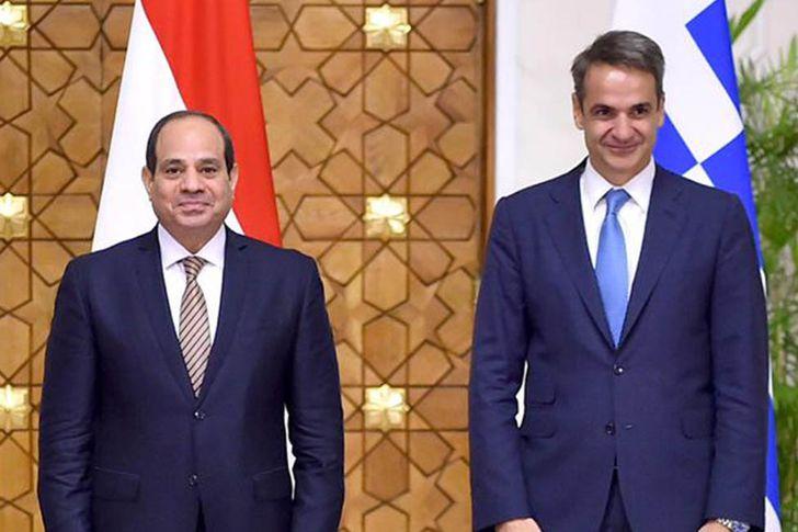 رئيس وزراء اليونان مع الرئيس السيسي