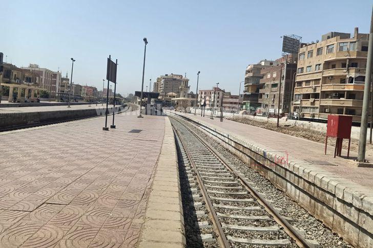 محطة بنها عقب عودة حركة القطارات