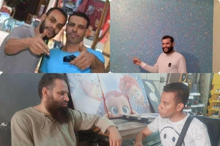 أهل مصر مع شقيق الضحيه