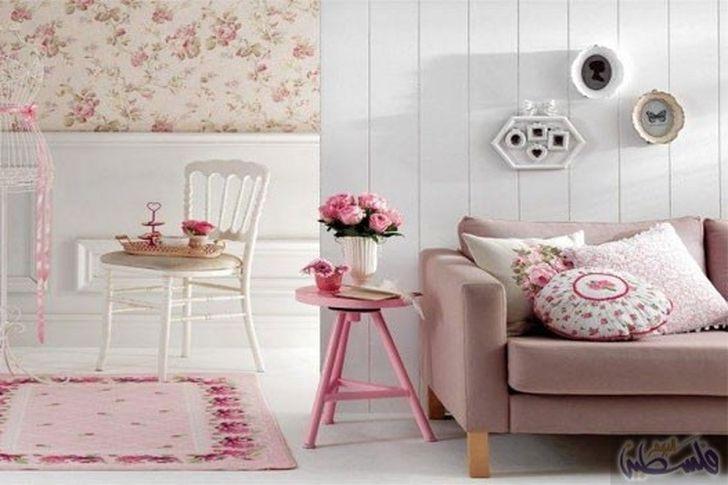 ألوان الباستيل في غرف المعيشة