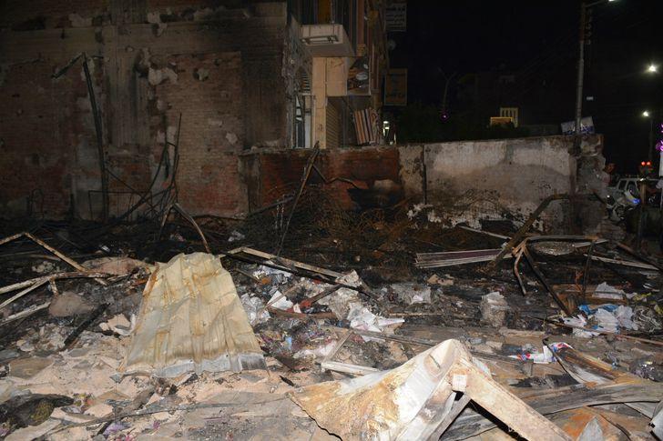 حريق طهطا في سوهاج