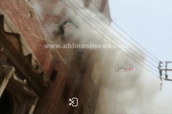 حريق منزل في سوهاج