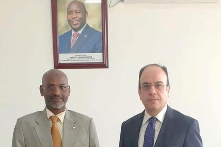 سفير جمهورية مصر العربية في بوجومبورا ووزير الكهرباء والطاقة البوروندي