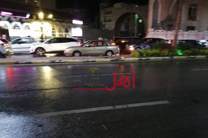 سقوط  امطار على محافظة بورسعيد