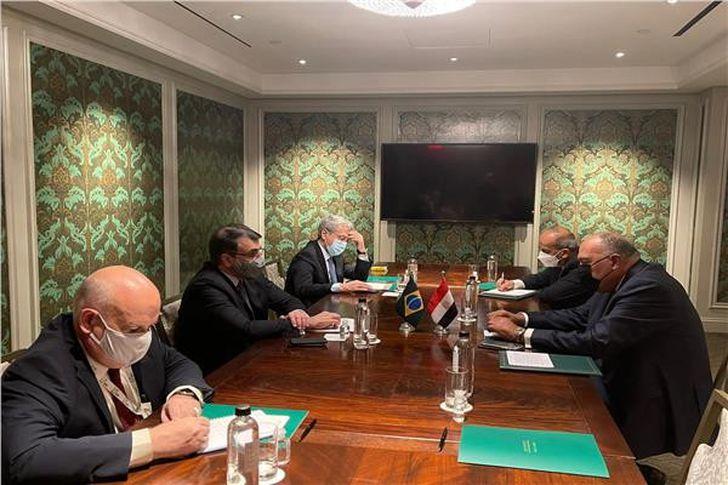 وزير الخارجية يلتقي نظيره البرازيلي