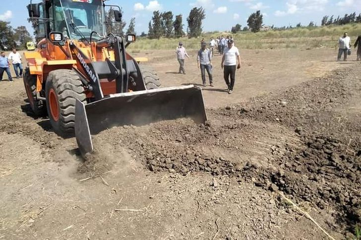 حملة لإزالة التعديات على أملاك الدولة والأرض الزراعيه