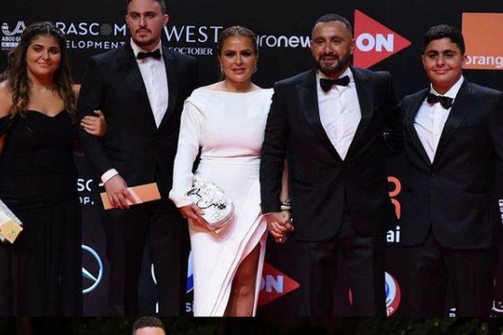 احمد السقا وزوجته في مهرجان الجونة
