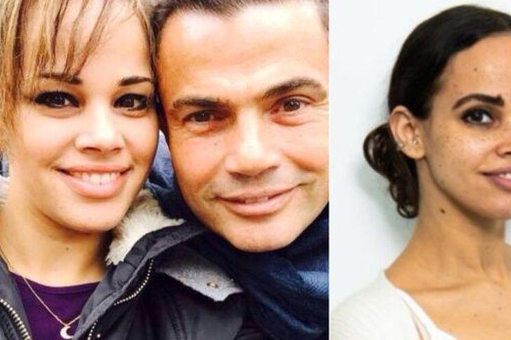 عمرو دياب وابنتيه