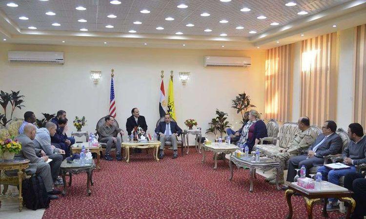 وفد من الكونجرس الأمريكى يزور شمال سيناء