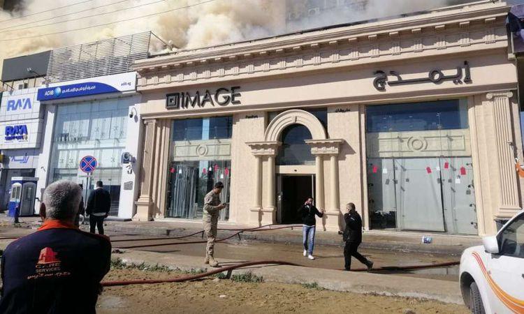 حريق هائل بشركة إيمدج للمفروشات