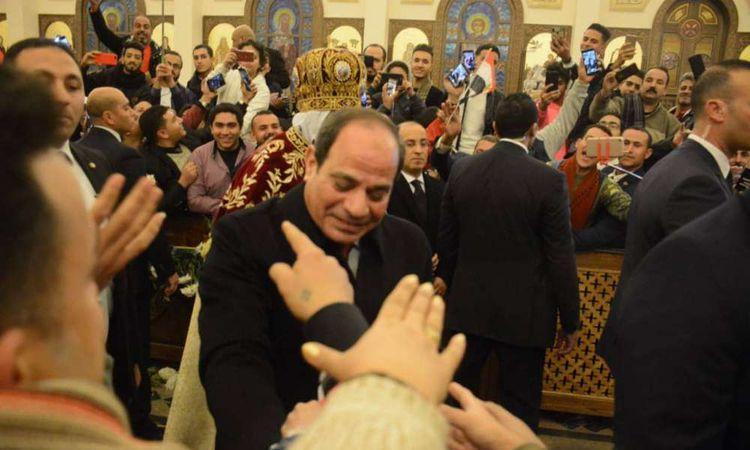 الرئيس السيسي يحضر صلاة قداس عيد الميلاد بكاتدرائية العاصمة
