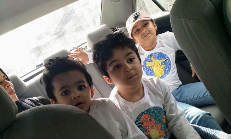 أطفال شروق بنت قنا المخطوفين من قبل جدهم