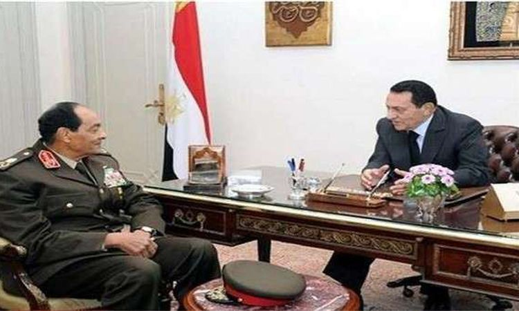 المشير طنطاوى ينعى مبارك