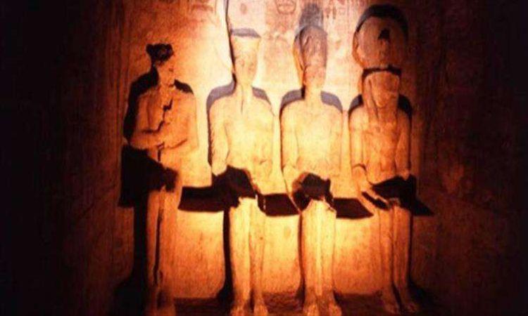 تعامد الشمس على قدس الأقداس بمعبد أبو سمبل. وجائحة كورونا تغيب مظاهر الاحتفال